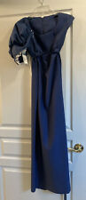 EMMA regency Jane Austen dress gown costume size 2/4 blue Victorian With Bonnet