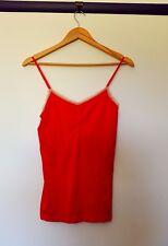 Victoria's secret womens size L bright red spaghetti strap cami top