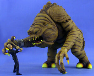 STAR WARS POTF DELUXE LOOSE ULTRA RARE RANCOR WITH EXCLUSIVE LUKE SKYWALKER.C-10