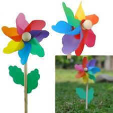 1pc Plastic Rainbow Party Pinwheel DIY Windmill Garden Decor Children Toy New