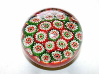 Beautiful Vintage Italian Murano Millefiore Art Glass Paperweight-2