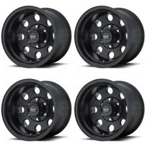16x10 AR172 Baja 6x5.5/6x139.7 -25 Satin Black Wheels Rims Set(4)