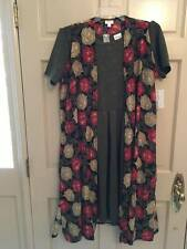 Outfit: Joy L Roses White Red, Olive Green Amelia 2X LuLaRoe Dress Embossed, NWT