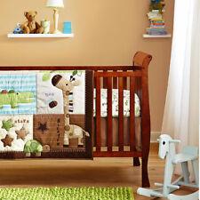 Jungle Friends 6 Piece Crib Nursery Bedding Set Quilt Bumper Fitted Sheet