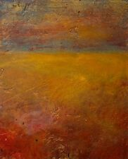 Modern Original Painting Fine Art Skies Red Gold Leaf Abstract Anya Landscape