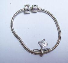 Sterling Chamilia Charm Bracelet w/ Family & Strength Charms