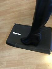 Dune Black Leather Size 8/41 Fold Dressy High Boots Riding Boots