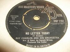"""RAY CHARLES AND HIS ORCHESTRA """" TAKE THESE CHAINS FROM MY HEART """" 7"""" SINGLE VG"""