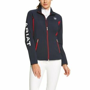 Ariat Ladies Team Softshell Jacket - Navy Red  - Sizes XSmall to 2Xlarge
