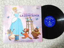 """L'HISTOIRE DE CENDRILLON ET CHANSONS WALT DISNEY 1970 BSO G G+ LP VINYLE 12"""""""