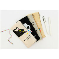 Japanese Kitten Cats Cute Canvas Pencil Cases Cosmetics Make Up Bags Pen Pouches
