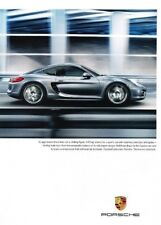 2013 Porsche Cayman 2-page Original Advertisement Print Art Car Ad J897