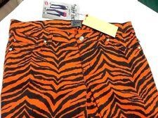 Women's TRIPP NYC Skinny Orange Black Zebra Jeans Pants Legging size 9