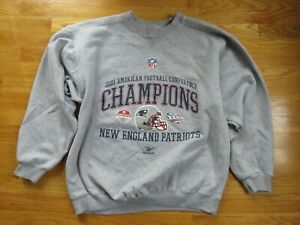 2001 AFC Champions NEW ENGLAND PATRIOTS XL Sweatshirt SUPER BOWL XXXVI Tom Brady