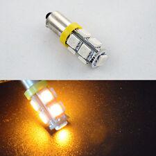 2X T8.5 BA9S 6253 64111 T11 T4W 5050 Amber Yellow Dome Door LED Light Bulb 12VAC