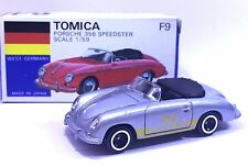 MADE IN JAPAN TOMY TOMICA F9 PORSCHE 356 SPEEDSTER 1/59 SILVER DIECAST TOY CAR