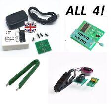 PROGRAMMATORE EZP2010 + Clip Socket Adapter + adattatore 1.8V PLUS Estrattore UK STOCK