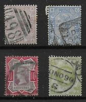 QV-Surface Printed Issues-SG 141 PL.8, 157 PL.22, 210, & 211. FU. Ref.08135