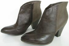 M&S INSOLIA SIZE 6 WOMENS BROWN SNAKESKIN ANKLE BOOTS BOOTIES HEELS ZIPS