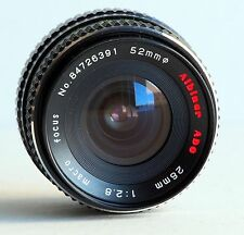 Minolta MC MD Mount f/2.8 28mm Wide Angle Lens X-370 X570 X700 XG7 XD SRT Tested