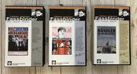 Fassbinder 3 x VHS Video Katzelmacher Der amerikanische Soldat Händler 4 Jahresz