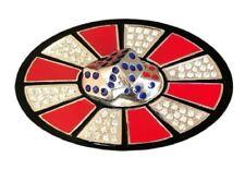 Casino Bling Las Vegas Craps Buckles Men Women Metal Belt Buckle Lucky Dice