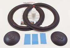 "Infinity SM100 SM102 SM105 10"" Woofer Foam Kit Speaker Kit w/ Inf Logo Dust Caps"