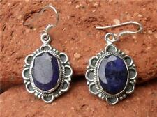 Unbranded Drop/Dangle Sapphire Sterling Silver Fine Earrings