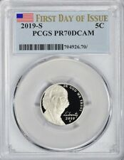 2019-S JEFFERSON PROOF NICKEL 5c FIRST DAY OF ISSUE PCGS PR70DCAM