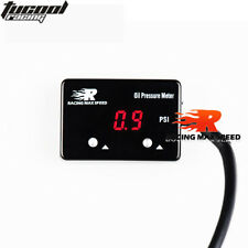 1/8 NPT Sensor Digital Oil Pressure Gauge Red Display 4WD Turbo Diesel Petrol