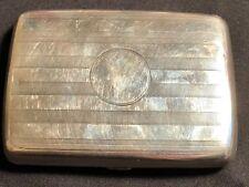 Vintage pitillera de plata de ley-Walker & Hall, 1913, Chester - 75.47g #ET