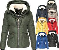 Navahoo Damen sehr Warme Winter Jacke FVS1 Parka Steppjacke Teddyfell Megan