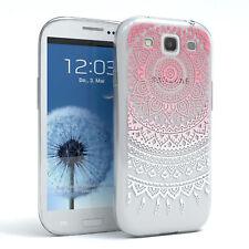 Hülle für Samsung Galaxy S3 / Neo Schutz Cover Handy Case Motiv Pink / Weiß
