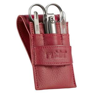 Rubis 4 Piece Ladies Grooming Leather Case Set 1K434