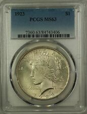 1923 Silver Peace Dollar $1 Coin PCGS MS-63 (16c)