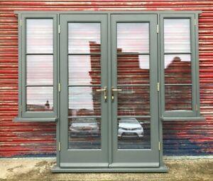 Solid Hardwood French Doors with Side Windows! Astragal Glazing Bars! Bespoke!