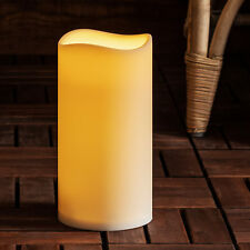 Outdoor Battery Operated LED Pillar Candle by Lights4fun Extra Large