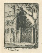 "Elizabeth O'Neill Verner Signed Etching ""Old Gateway, Charleston"""