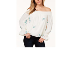 One Hart Juniors' Embroidered Off-The-Shoulder Top Size M