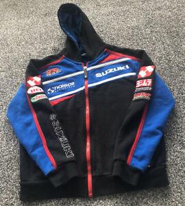 Team Suzuki Collection British Superbikes Jacket Hoodie Kids Size Age 7-8 Years