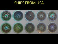 10 Pcs Balance Energy Power Hologram Stickers - Free Shipping From USA (8-BS)