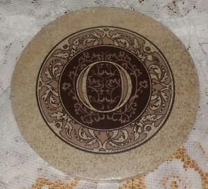 New Thirstystone Sandstone Trivet Monogrammed Letter O