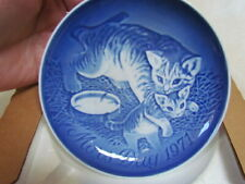 1971 Bing&Grondahl Copenhagen Porcelain Mother's Day Cat/Kitten Decorative Plate