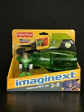 DC Super Friends Batman GREEN LANTERN JET Fisher-Price Imaginext - NIB Cleaned