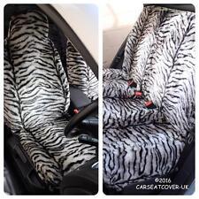Renault Grand Scenic  - GREY TIGER Faux Fur Furry Car Seat Covers - Full Set