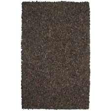 St. Croix Pelle Leather Shag 30X50 Rug, Dark Brown - LD2008