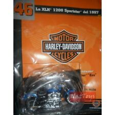 Moto Harley Davidson XLH 1200 Sportster 1997 +fasc.46 MODELLINO DIE CAST 1:18