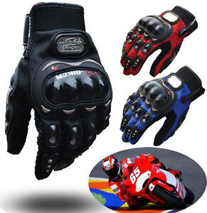 PRO-BIKER Motorcycle Motorbike Racing Riding ATV Shock-proof Full Finger Gloves