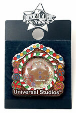 NEW Universal Studios Shrek 4-D Gingerbread Man Holiday Glitter Trading Pin