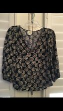 Cute Anthropologie Maeve Navy Multi Color Print Tank Top Size 6
